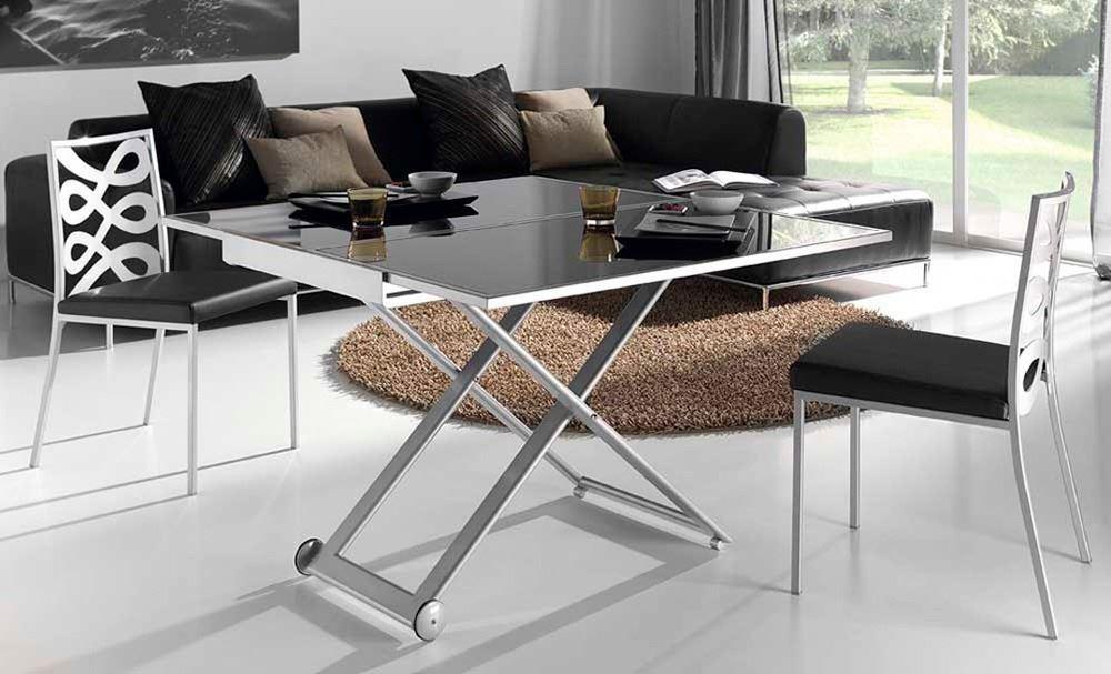 Mesa de centro convertible en mesa de comedor