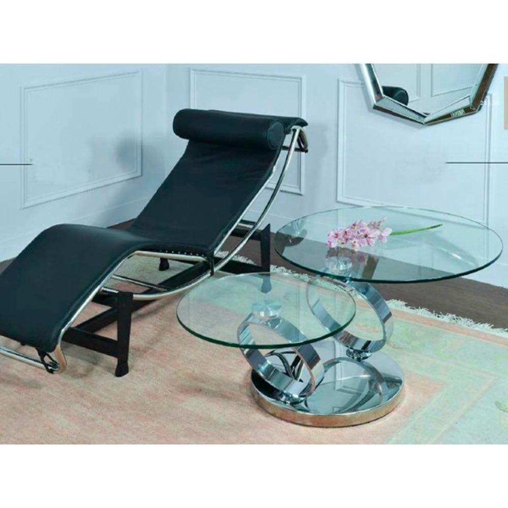 Mesa De Centro C Rculos Giratoria Y Extensible # Muebles Juan Parrabera