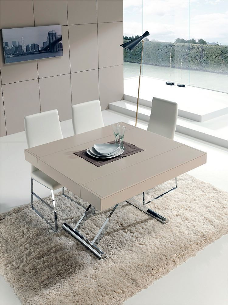 Mesa de centro y de comedor regulable en altura y apertura - Altura de una mesa de comedor ...